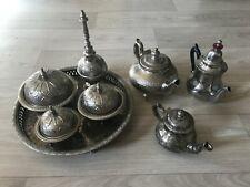 Service à Thé Marocain Métal | Ensemble complet du service à thé