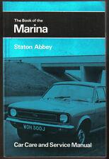 Morris Marina 1.3 1.8 & 1.8 TC Car Care & Service Manual Pub. by Pitman 1972