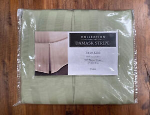 Macys Collection by Charter Club Damask Stripe FULL bedskirt 500 TC new