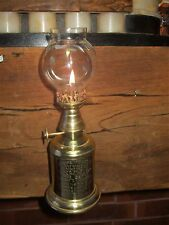 VINTAGE FRENCH ORIGINAL VINTNERS OLYMPE OIL LAMP WALL HANGING TABLE TOP BRASS