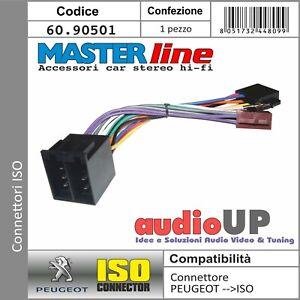 CONNETTORE ISO AUTORADIO PER PEUGEOT 206 CC DAL 2002 IN POI. ADATTATORE RADIO