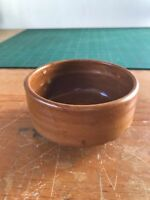 """4"""" x 2"""" Artist Signed Studio Thrown Small Pottery Ceramic Bowl Sienna Brown"""