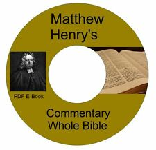 Matthew Henry's Commentary Whole Bible-CD eBook-Kindle-iPhone-iPod-Droid Comptbl
