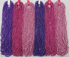 Mardi Gras Beads Purple Hot Pink Baby Pink 6 dz Girl Shower Party 72 Necklaces