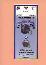 St.Louis Rams @ Baltimore Ravens 10-27-1996 ticket 1st EVER Franchise OT VICTORY