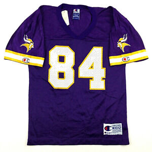 Vtg 90s Minnesota Vikings Youth Jersey Randy Moss 84 Champion NFL Football Kid M