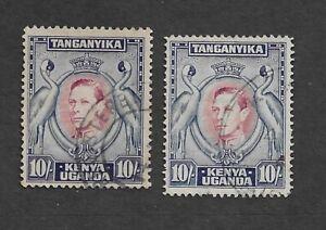 66 Kenya Uganda Tanganyika King George VI 10sh used SG 149a/9b £33.50