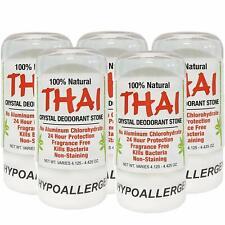 Thai Natural Crystal Deodorant Stone 4.25 oz Pack of 5