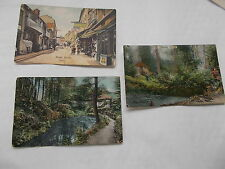 3 Vintage Coloured Postcards of Yeovil In Somerset -ALL Used & With Stamps
