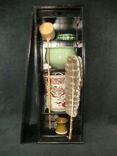 VINTAGE JAPANESE MEIJI ERA c. 1930s CHADO TEA CEREMONY SET W/CHABAKO TEA TANSU