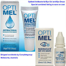 2 X Optimel Manuka Forte Honey Antibacterial Eye GEL for Sore Dry Eyes Soothing