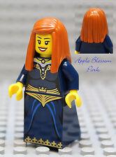 NEW Lego Dark Blue FEMALE MINIFIG -Castle Kingdom Princess Dark Orange Hair Girl