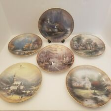 Vintage Thomas Kinkade The Spirit of Life Decorative Plates Lot of 6~1-4, 8, & 9