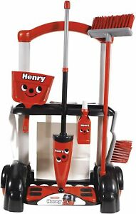 Children's Cleaning Trolley Red Kids Role Play Toy Cleaner Set Christmas Gift