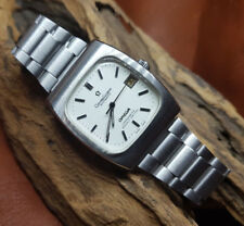 USED VINTAGE OMEGA CONSTELLATION CREAM DIAL AUTO DATE SS STRAP MAN'S WATCH