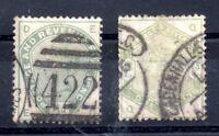 GB QV 1883 5d & 1s SG193 SG196 fine used WS10222