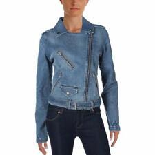 Tommy Hilfiger Womens Asymmetrical Denim Jacket NWD Size M