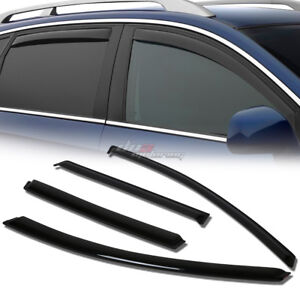 FOR 07-15 MAZDA CX-9 CD3 SMOKE TINT WINDOW VISOR SHADE/VENT WIND/RAIN DEFLECTOR