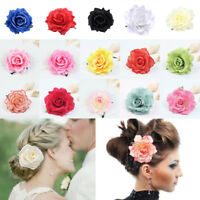 Bridal Rose Flower Hair Clip Hairpin Brooch Pins Wedding Women Girl's Hair Decor