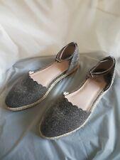 Ladies Faith Flat Silver Sandalls UK Size 7/40