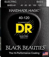 DR BKB5-40 BLACK BEAUTIES COATED BASS STRINGS,  LIGHT GAUGE 5's  40-120