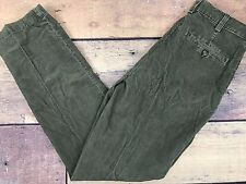 NEW LL BEAN Green Flat Front Corduroy Casual Cotton Pants Men's 30 x 32 (LLM122)
