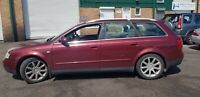 AUDI A4 2.5 TDI QUATTRO 4X4 AVANT ESTATE AUTOMATIC REPAIRS OR SPARES
