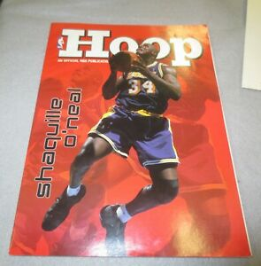 ☆ 1999 Los Angeles LAKERS vs Portland GAME PROGRAM Hoop Shaquille O'Neal Cover