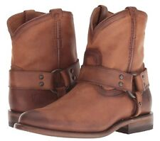 Frye Wyatt Harness Boots Women's Classic Vintage Antiqued Leather Pull On NIB