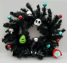 The Nightmare Before Christmas 25 Years Decorated Black Wreath Jack Sally Oggie