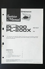 PIONEER PL-200 PL-200X Original Service-Manual/Service-Anleitung/Schaltplan! o25