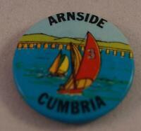 Vintage Arnside Cumbria Pin Pinback Button Badge