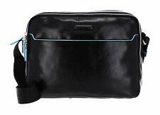 PIQUADRO Blue Square Tablet Shoulder Bag Umhängetasche Tasche Nero Schwarz