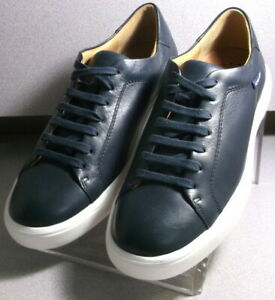 CHRISTIANO NAVY Men's Shoes Size 8 EUR 7.5 Leather Lace Up MMMS70 Mephisto