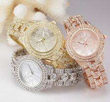*ROSE GOLD Rhinestone Designer Style Ladies Women's Crystals Bling Party Watch*