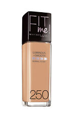 Maybelline Fit Me Luminous & Smooth Foundation 250 Sun Beige RARE Sealed