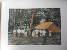 iles sous le vent/Gravure 19°in folio couleur/ cases et indigènes a Borabora