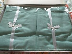 Vintage pillowcases and bolster set green in original wraps and box