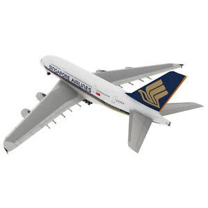 1:300 Airbus A380 3D Paper Model Papercraft Cardboard for Children Paper T^qi