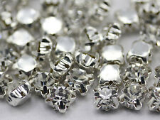 6mm SS30 Crystal Clear Crystal Sew On Rhinestone Rose Montee Beads 25 PCS