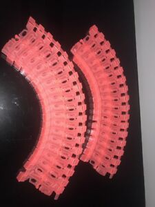 Mindscope Twister 2 Ft Neon Coral Tacks Trax Car Race Toy Glow In Dark