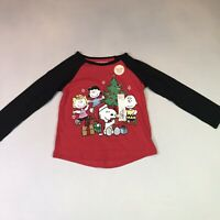 Girls 3T Jumping Beans Red SNOOPY CHARLIE BROWN Christmas Holiday Shirt