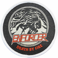 ENFORCER Death By Fire - Patch / Aufnaeher - 8 cm - 162678