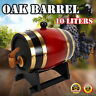 10L Red Pine Wood Wine Barrel Timber Wine Whiskey Spirits Storage Keg Barrel