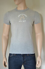 NUOVO Abercrombie & Fitch Cliff Mountain Grey distrutto una T-SHIRT TEE S