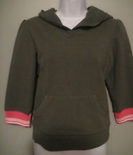 NWT SO LOW Girls Army Green Pullover Hoodie Size L (14)