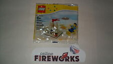 Lego 40054 Exclusive Summer Beach Scene minifigure, New Sealed, Free Shipping
