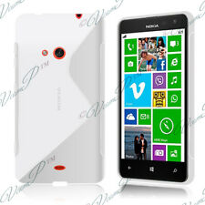 Housses Coque Etui Blanc TPU S Silicone GEL Motif S Vague Nokia Lumia 625