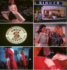 Singer Sewing Machine Screen Ads + Sewing 1940s Vintage Films DVD