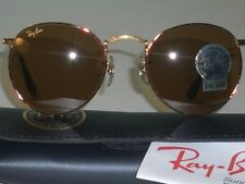 46MM VINTAGE B&L RAY BAN W2185 B15 GOLD/TORT COMBO ROUND AVIATORS SUNGLASSES NEW